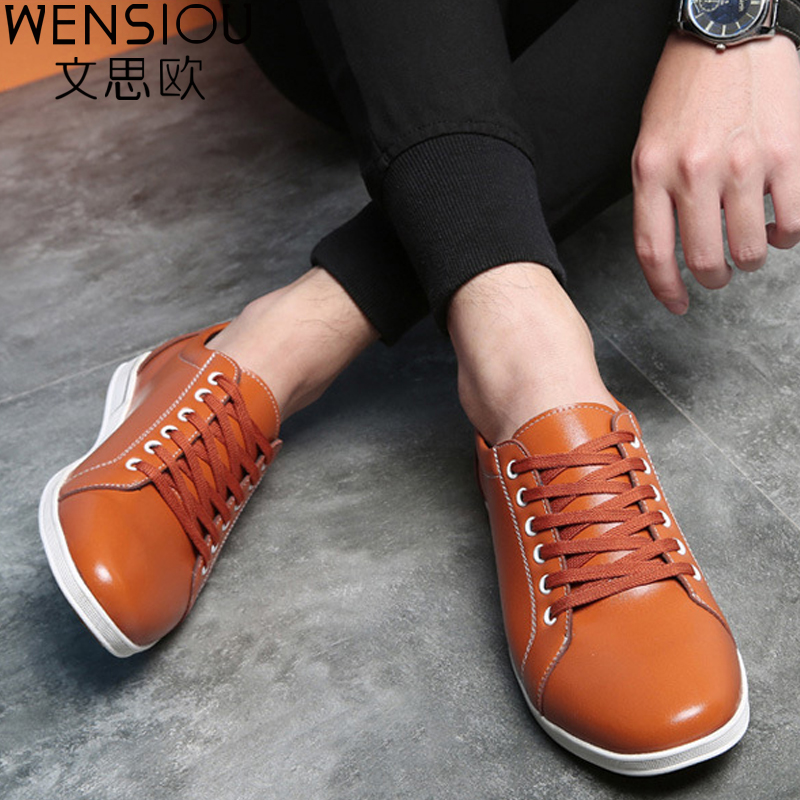 Men Casual Shoes Autumn Winter Male Comfortable Board Shoes Fashion Footwear Solid Color Lace-Up Shoes New Flat shoes BET601 new 2017 spring autumn graffiti men casual shoes patchwork lace up rubber sole men shoes canvas fashion male footwear rmc 706