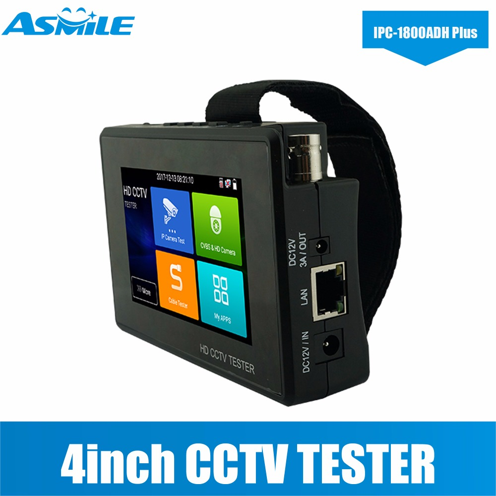 H.265/H.264, 4K Video Display 4 Inch IPS Touch Screen CCTV Camera Tester With 800*480 Resolution PoE DC48V Power Output