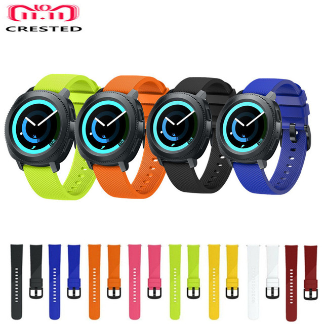 CRESTED Sport strap For Samsung gear sport band 20mm watch correa silicone wrist