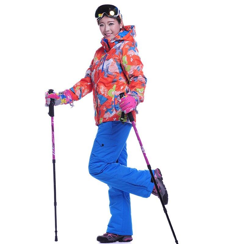 Prix pour Haute Qualité Ski Ensemble Pantalon Et Veste Snowboard Hiver Randonnée Neige Pantalon Étanche Pantalon Sport En Plein Air Ski Veste Garder Au Chaud