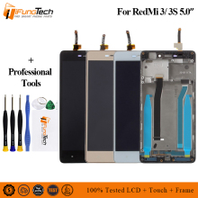 цены Tested LCD Digitizer for Xiaomi Redmi 3S LCD Display Touch Screen Frame Assembly for Xiaomi Redmi 3 Pro/ 3S Pro Replacement Part