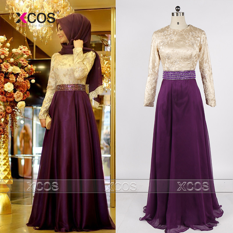 aliexpresscom buy long sleeve muslim prom dress bow