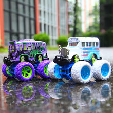 1:43 Scale Child Inertia Car Model Bus Off-road Vehicle Toys for Boys Alloy Diecast Bigfoot Climbing Car Kids 2019 Pull Back Toy(China)