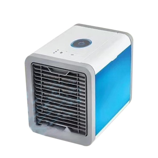 Mini Artic Air Conditioner Air Cooling Fan Portable USB Air Cooler Fans with LED Lights Humidifier Purifier for Home Office