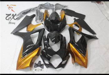 3 giftmotorcycle For gsxr1000 GSXR 1000 2007 2008 07-08 GSX-R1000  Injection Bodywork Fairings glod and  black UV good