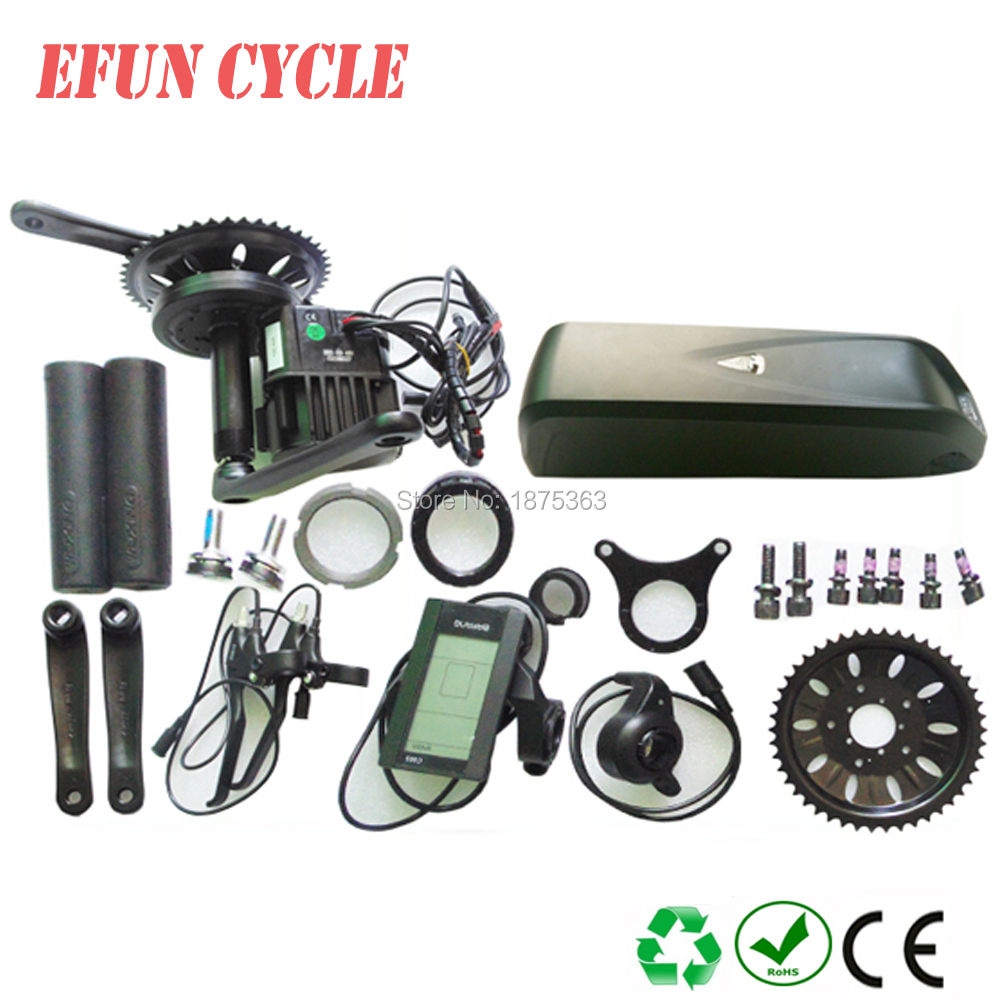 Free shipping 42T chainring Bafang BBSHD 48V 1000W central crank geared motor kits+48V 13Ah Hailong down tube battery+charger