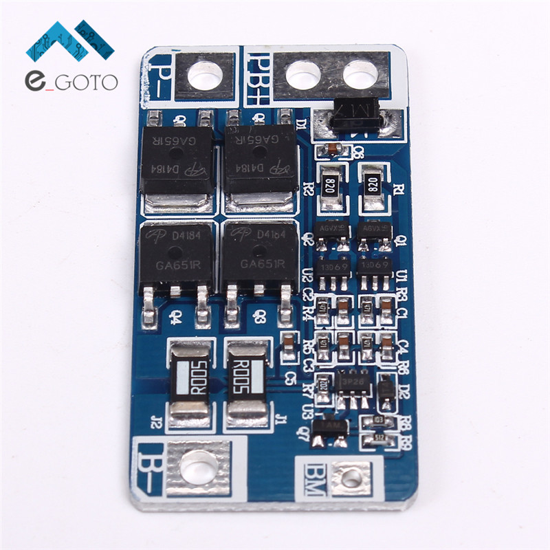 2S 6.4V 10A Lithium Ion Phosphate Battery Protection Board Charger Discharger with Balance Protection Module BMS PCB for Toy Car