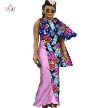 2017 afrikkalaiset mekot naisille uusi Design naiset D-naiset O-Kaula pitkä pitkä nilkkapituus mekko dashiki plus koko 6xl WY1298