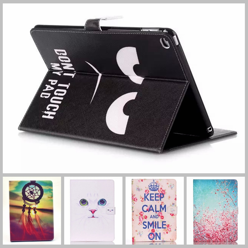 Original Painted Stand Tablet Leather Case for IPAD 6 Air 2 Colorful Flip Stand Cover Brand Cases for IPAD 6 Fashion Slim Capa