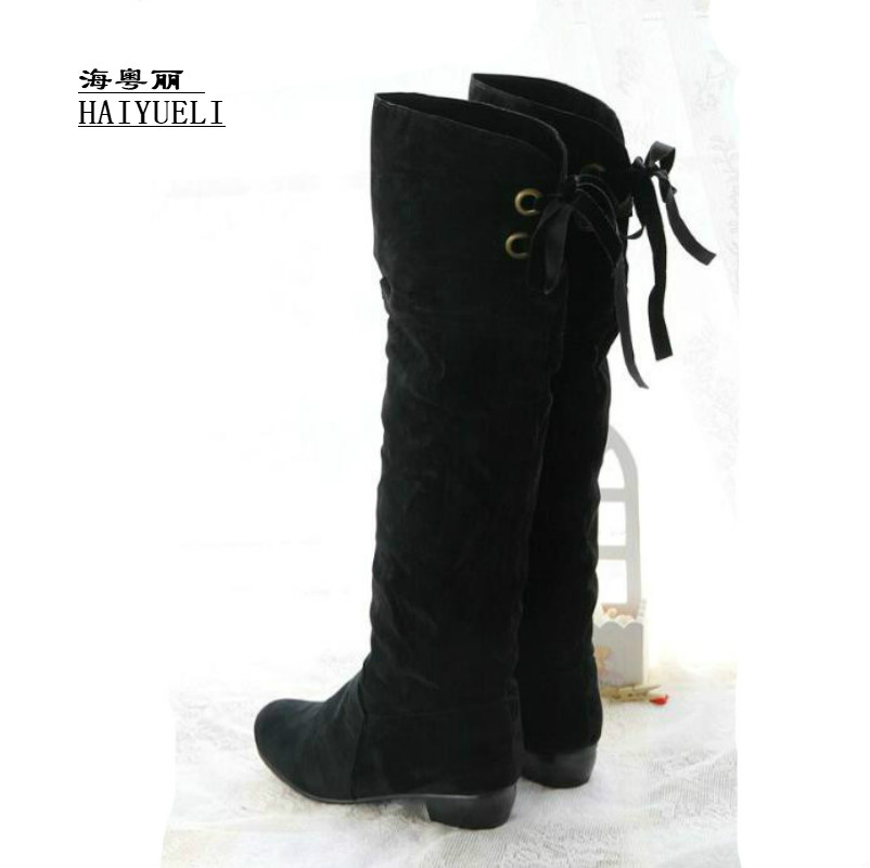 Women Boots Women Flat Over Knee Boots Ladies Riding Fashion Long Snow Boot Warm Winter Botas Footwear Shoes