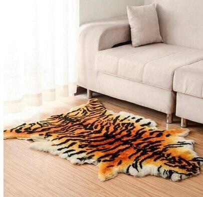 Haute qualité tapis australie pure laine cuir imitation peau de tigre tapis salon tapis chaise coussin siège animal couverture