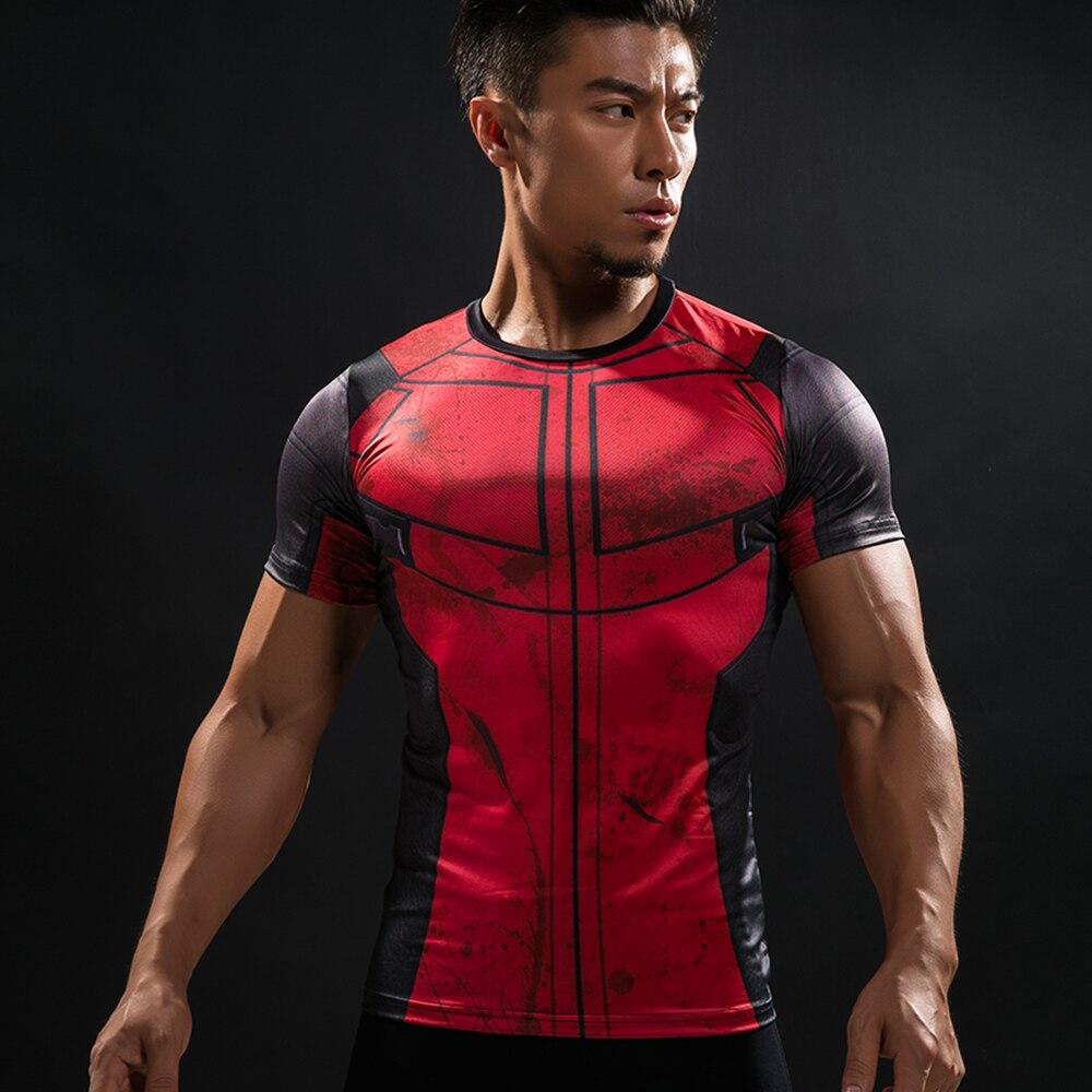 Divertido Camiseta Deadpool 3D Impresso Homens T-shirt Roupas de Fitness Masculino Tops Camisa Engraçada de T Superman Deadpool Costume Mostrar