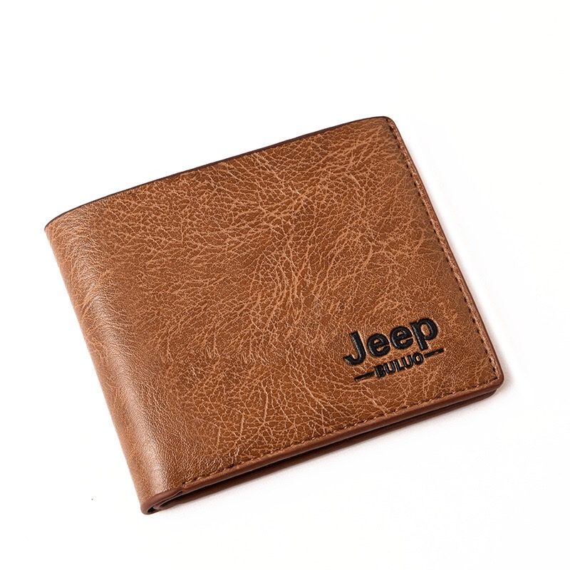 Dropshipping 2018 Men Wallets Mens Jeep Wallet with Coin Bag Small Money Purses New Design Dollar Slim Purse Money Clip Wallet wood