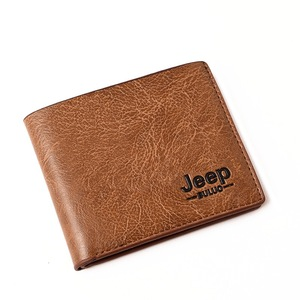 Top Men Wallets Mens Jeep Wallet with Coin Bag Small Money Purses New Design Dollar Slim Purse Money Clip Wallet(China)