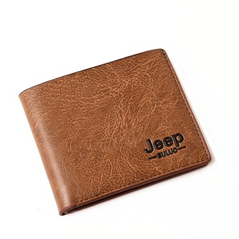 Top Men Wallets Mens Jeep Wallet with Coin Bag Small Money Purses New Design Dollar Slim Purse Money Clip Wallet with coin bag zipper new men wallets mens wallet small money purses wallets new design dollar price top men thin wallet 125 1