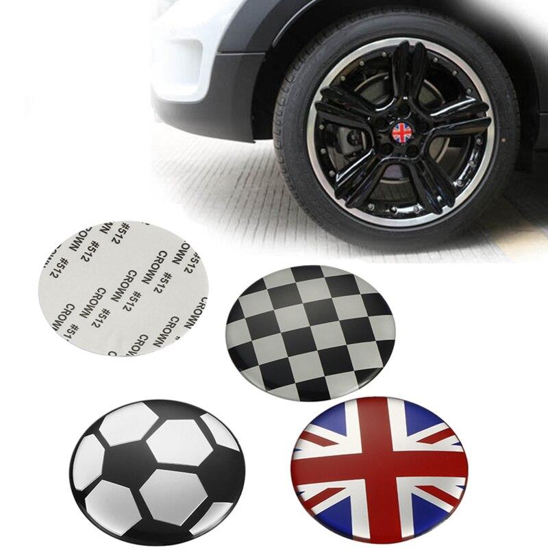 4pcs for Mini Cooper R56 R61 F55 F60 Car Wheel Center Hub Cap Sticker Rim Cover