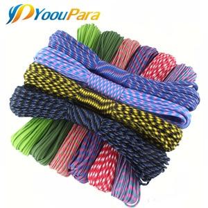 Image 2 - YoouPara Outdoor Survival Knife 50 Feet Paracord 550 Parachute Cord Rope 7 Core 100 Pcs/lot