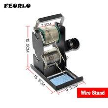 цена на FEORLO Solder Wire Rack Line Seat Tin Support Tin Wire Welding Wire Bracket Multifunctiona Double-Layer Soldering Iron Stand