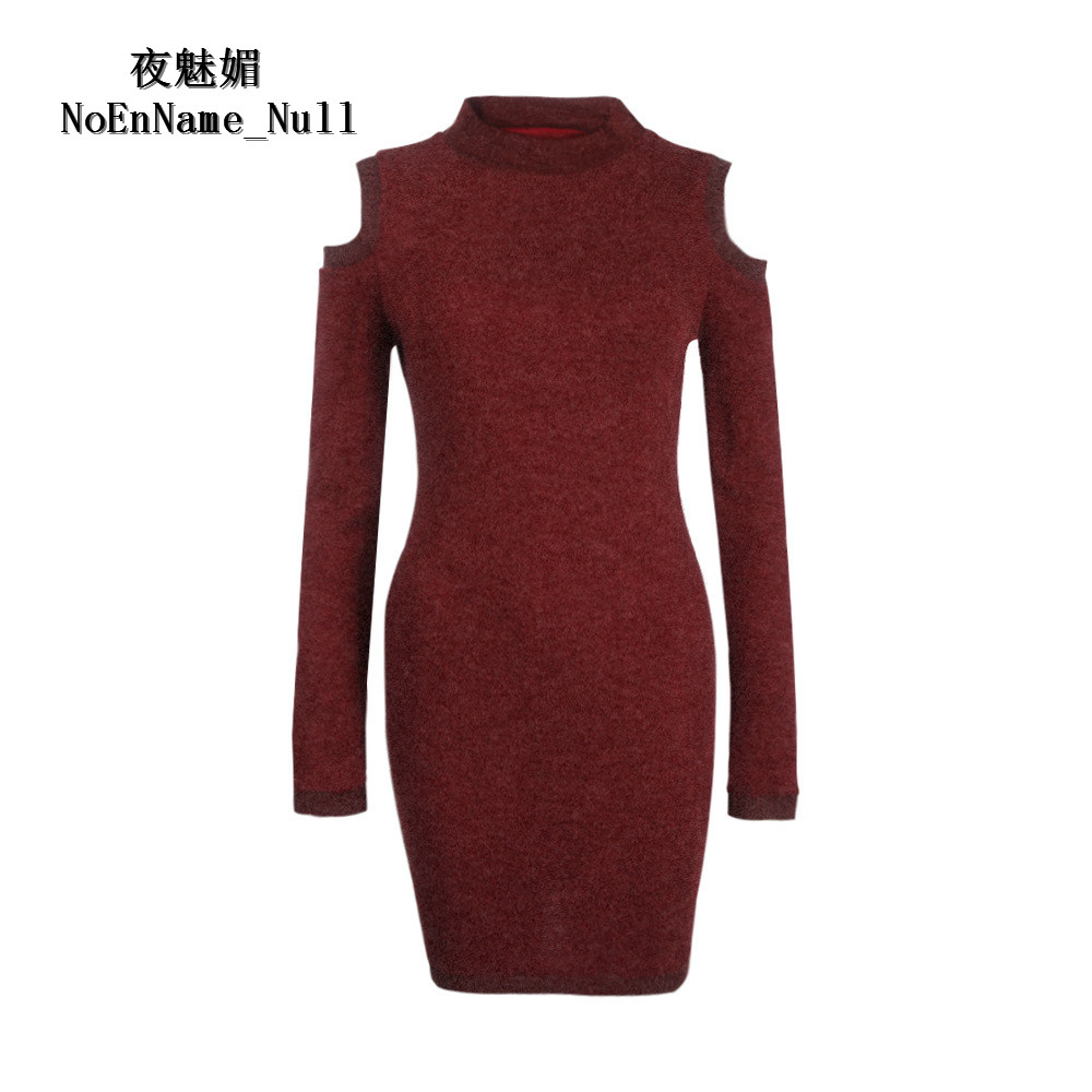 2017 Autumn And Winter Long Sweater Pullover Women Knit Sexy Off Shoulder Sweaters For Woman Turtleneck