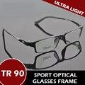 Tr90 montura completa deportes gafas de prescripción óptica Ultra ligero gafas para hombre