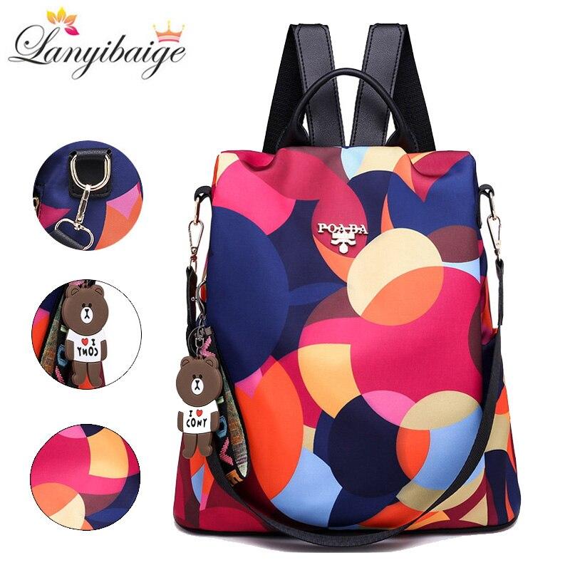 Moda mochila mulheres bolsa de ombro grande capacidade das mulheres mochila bolsa escola para meninas adolescentes luz senhoras mochila de viagem