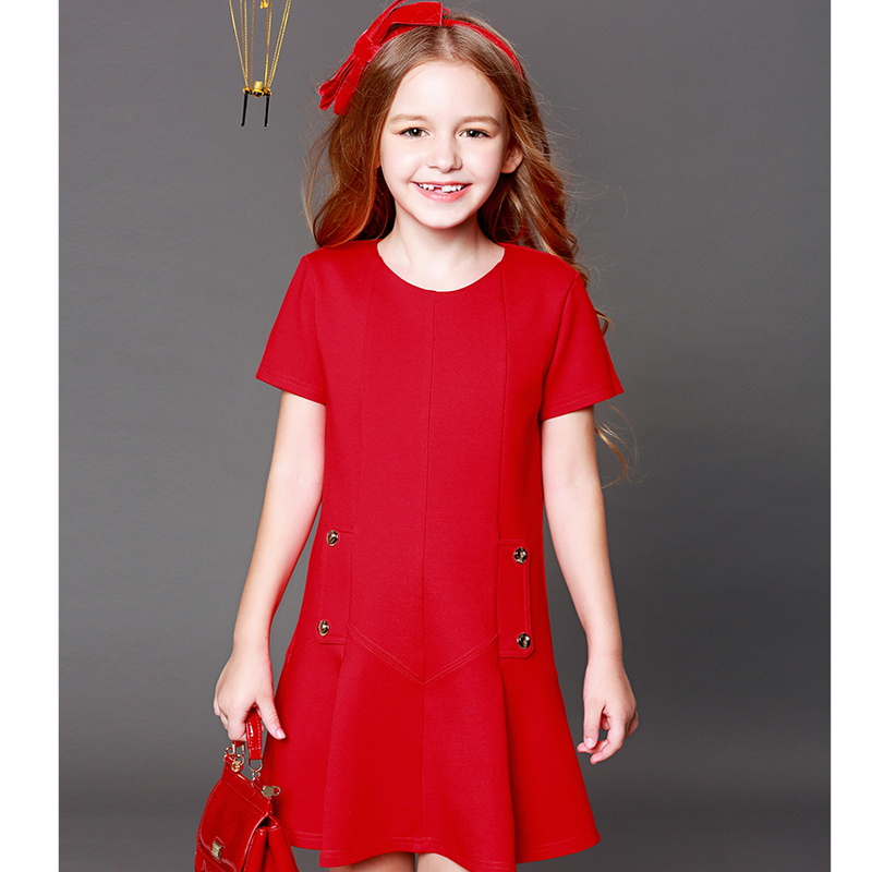 Детская одежда платье для девочек 2018 осень с короткими рукавами детские для девочек в европейском и американском стиле платье принцессы