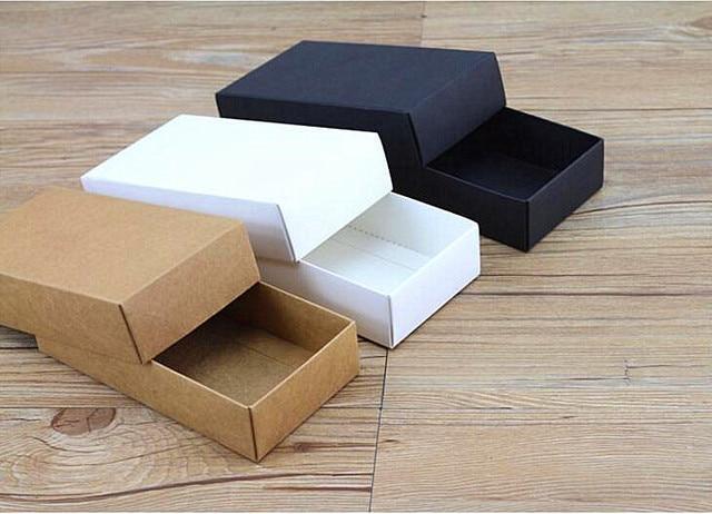 alice, 10 pcs/lot boîte cadeau en carton avec couvercle, bijoux