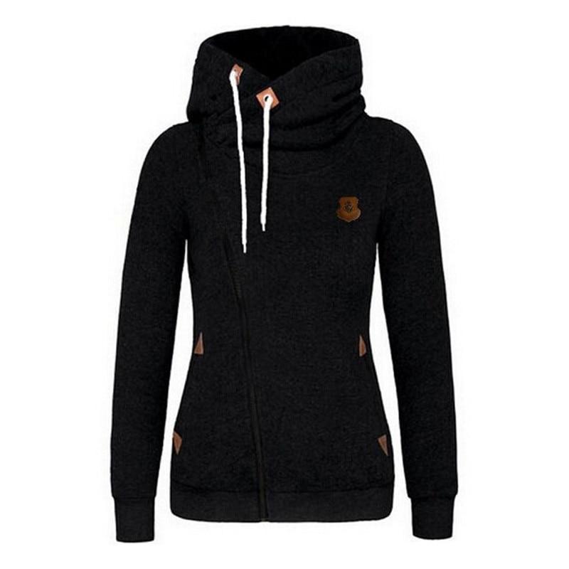 Autumn Winter Fleece Hoodie Sweatshirts Women Hoody Zipper-up Hoodies Female Women Hooded Sweatshirt Tracksuit KH952553