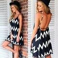 2016 New Summer Style Women Sexy Dresses Sleeveless  Backless Spaghetti Strap dashiki beach dresses vestidos de verano plus size