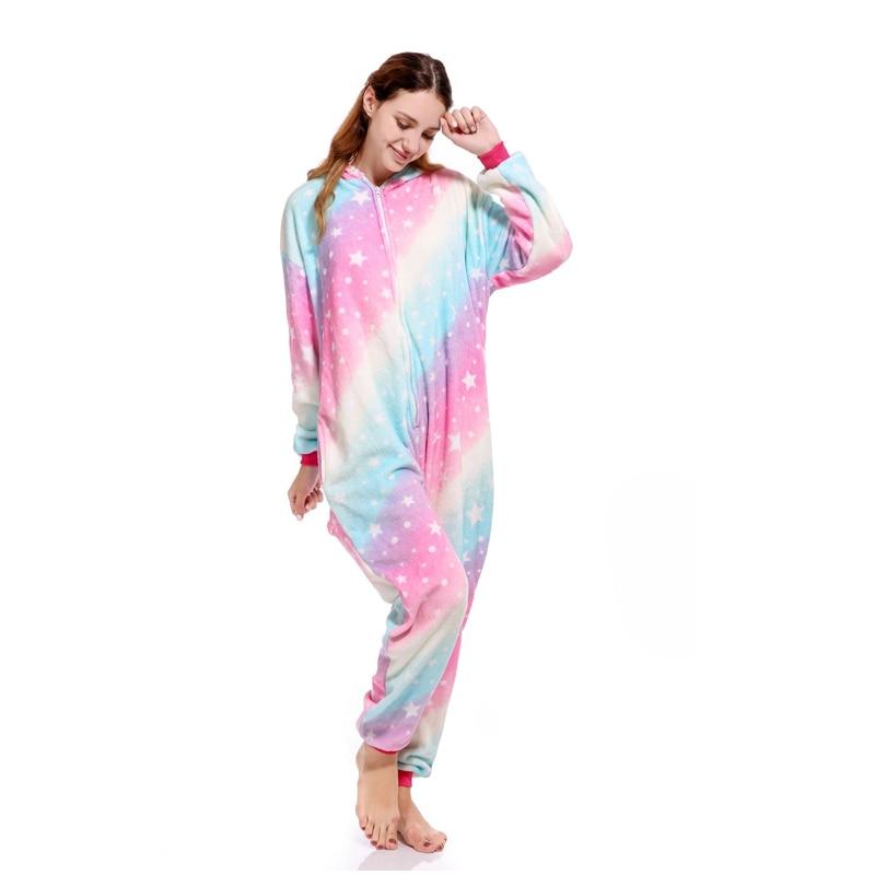 Animal Kigurumi Onesie Adult Men Women Unicorn Sleepwear Pajama Soft ... 5b8a44776