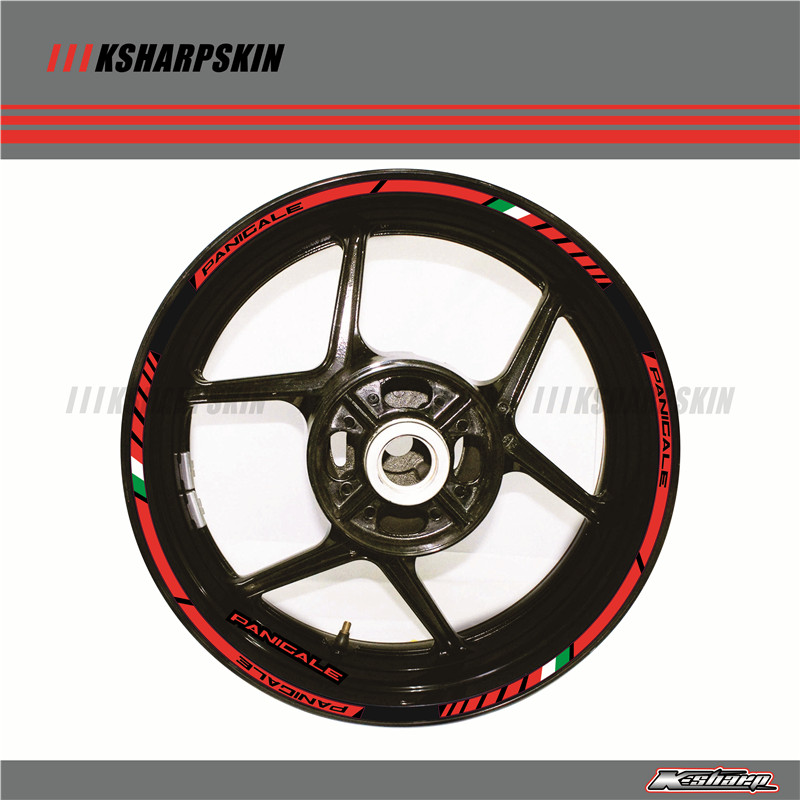 12 X Thick Edge Outer Rim Sticker Stripe Wheel Decals FIT all DUCATI 1299 PANIGALE S 959 PANIGALE