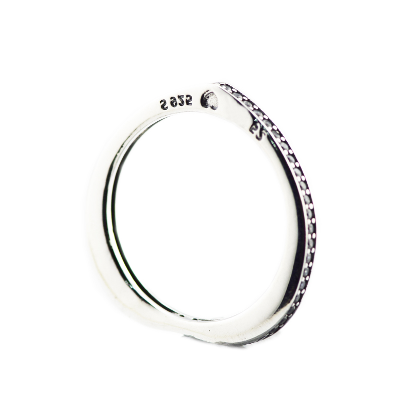 dfe7e221576d2 US $10.79 40% OFF|925 Sterling Silver Original Sparkling Arcs of Love Ring  Charm Clear CZ For DIY Jewelry Women 2018 Spring New Item-in Rings from ...