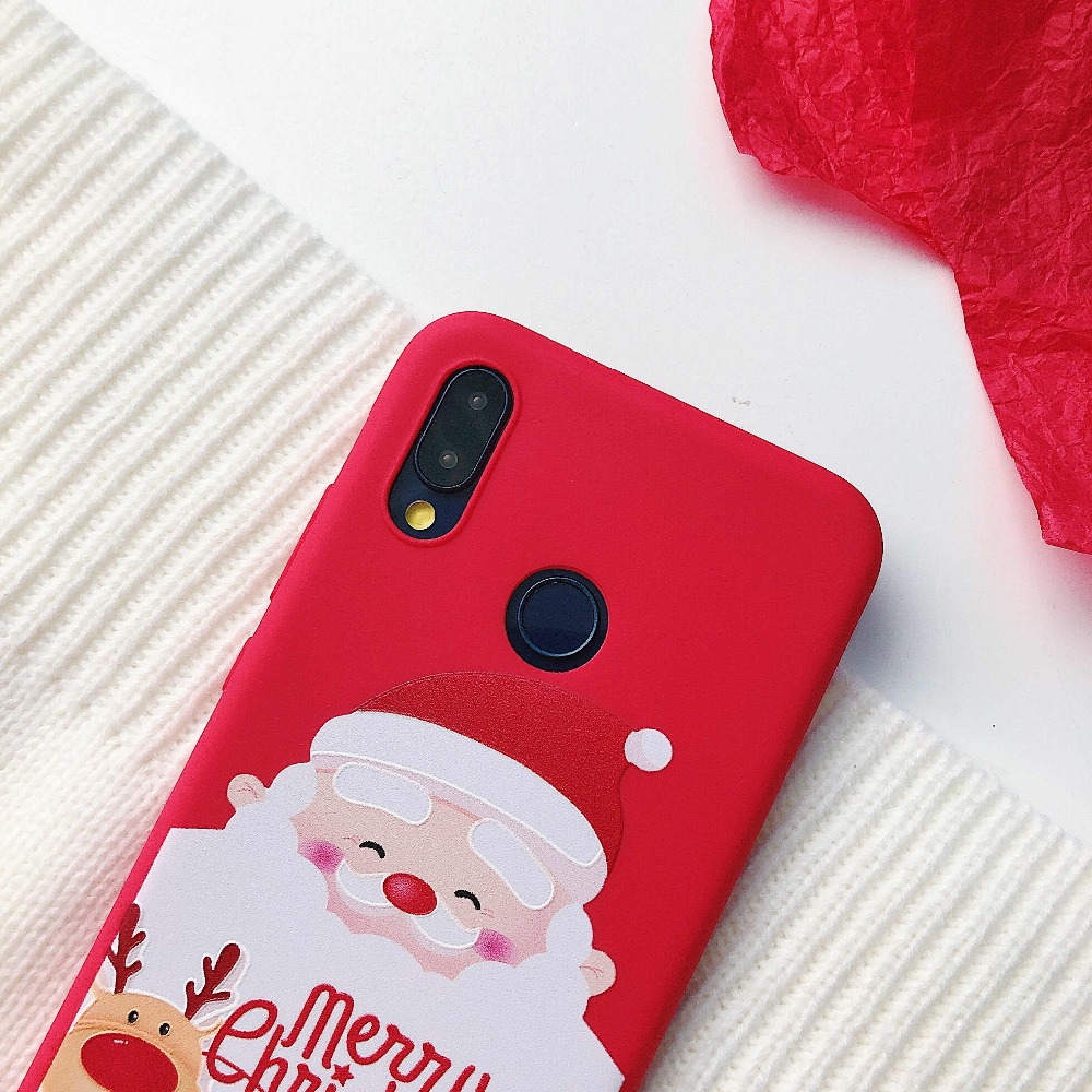 Cartoon Christmas Gift Cover Case For Huawei P20 Lite Mate 20 Pro Santa Claus Elk Soft TPU For Huawei Mate 10 Lite Phone Cases