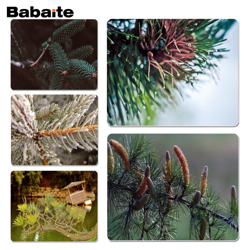 Babaite Cool New Branch Light Spruce Laptop Computer Mousepad Size for 18x22cm 25x29cm Rubber Mousemats