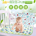 Y129-2 Baby changing mat waterproof breathable cotton slip triple oversized lawn game pad beach mat 70X120cm