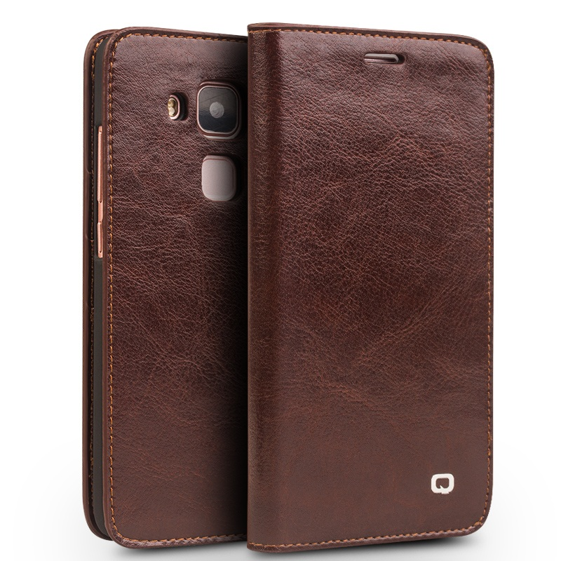 QIALINO for Huawei nova plus Cases Classic Flip Genuine Leather Wallet Cover Case Bag for Huawei