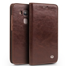 QIALINO for Huawei nova plus Cases Classic Flip Genuine Leather Wallet Cover Case Bag for Huawei nova plus/ G9 Plus/ Maimang 5