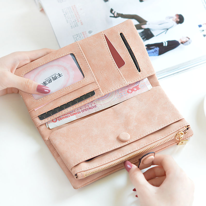 10PCS/LOT Women Long Purse 2018 Fashion Hasp Zipper Large Capacity Leather Wallets Ladies Clutch Wallets Card Holder Female
