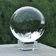 60mm Fotografie Kristall Ball Ornament FengShui Globus Divination Quarz Magie Glas Ball Home Decor Kugel bola de cristal(China)