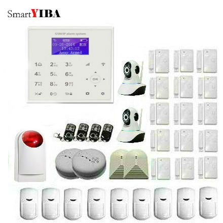 SmartYIBA WIFI GSM GPRS SMS Alarm Security System APP Remote Control Alarm Kits With PIR Motion Detector Strobe Siren yobang security rfid gsm gprs alarm systems outdoor solar siren wifi sms wireless alarme kits metal remote control motion alarm