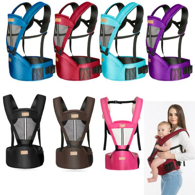 Hot Newborn Infant Baby Carrier Solid Traspirante Ergonomico Regolabile Wrap Sling petto canguro Zaino 0-4 Anni 2