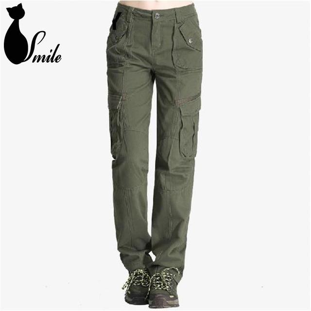 2015 women outdoor pants leisure female Mountain Tactical Quick Dry Travel  Trousers loose cotton straight pockets pants 7038a8c77