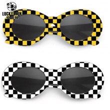 f462e0b374c Hot Sales Women Men NIRVANA Kurt Cobain Sunglasses Lattice Oval Sun Glasses  White Frame Eyewears UV400