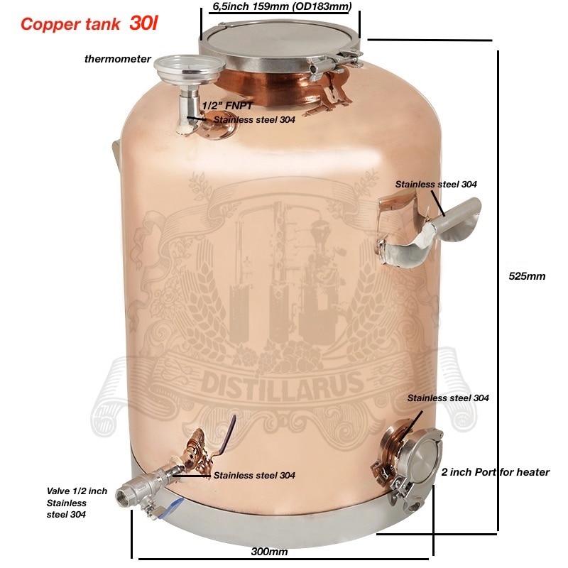 30l (8Gal ) Copper Boiler, Tank for distillation 30l (8Gal ) . Mirror polishing. цены онлайн