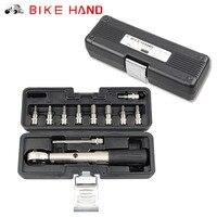 BIKE HAND Bike Torque Wrench Allen Key Tool Kit Bicycle Repair Tools MTB 1/4'' Torque Fix Set 2 24 NM Road Cycling Socket Tool
