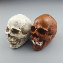 MRZOOT Human Statues Resin Sculptures Small Figurines Halloween Home Decor Decorative Craft Skull Model Art Gift