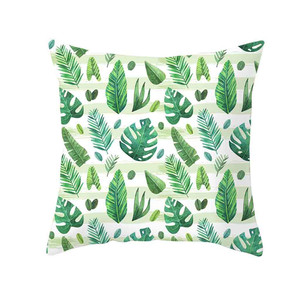 Image 4 - ตกแต่งสีเขียวพิมพ์โยนหมอนนุ่มสบายหมอนครอบคลุมสแควร์เบาะโพลีเอสเตอร์สำหรับโซฟาห้องนอน