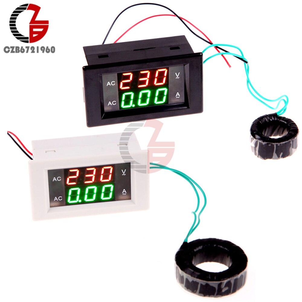 100A 80V 300V AC Digital Voltmeter Ammeter Dual LED Display Power Supply Voltage Current Meter Volt Tester Detector 110V 220V|Voltage Meters| |  - title=