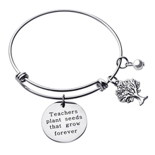 Stainless Steel Teacher Bangle Charm Bracelet Teacher Gift Appreciation Thank You Gift from Student Personalized Teacher Jewelry exploring teacher student relationships with hermeneutic phenomenology