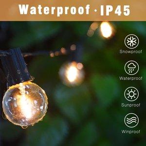 Image 2 - G40 Led String Lights 25Ft 25PCS Vintage LED Bulb 1W 2700K IP45 Waterproof Indoor Outdoor Light String for Backyard Patio Lights